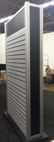 Double Sided Slat Wall Gondola With Lights (4)