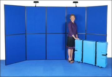 Outline 10 ft folding panel display with black fabric & case