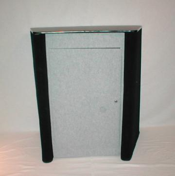 Pro Displays Podium & Case Grey & Black showtime fabric