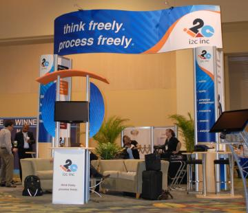 Striking 20' X 20' Trade Show Booth