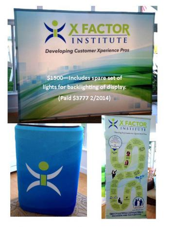 Backlit Display, Pop-up Banner, Case/Tabletop