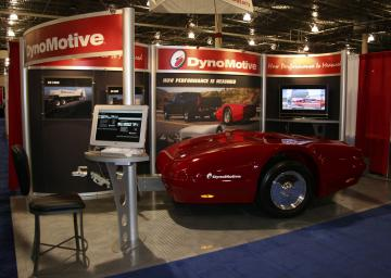 Custom Aluminum and Fabric Exhibit with RaceDeck flooring