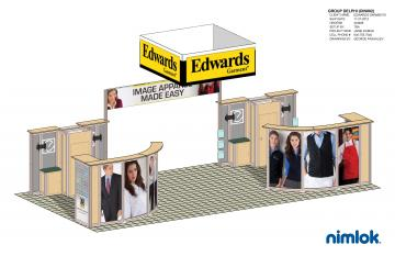 Nimlok Island Booth - 800 Square Feet