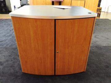 Large Laminated Counter With Storage