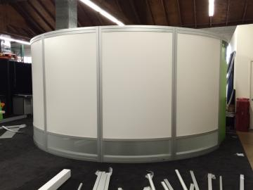 Adjustable Conference, Storage Space and Linear Booths