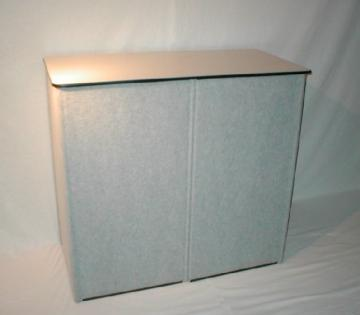 Skyline brand Grey Fabric TRADESHOW PODIUM with shipping case