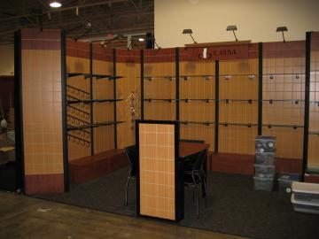 Tradeshow/exhibit display booth up to 10'x40'