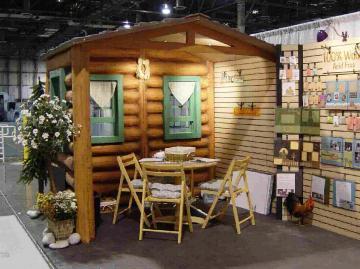 Unique Log Cabin 10' x 20' Booth