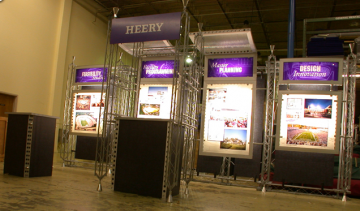 20' Truss Booth with Back lit Light Boxes