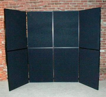 Outline 8 ft folding panel display with black fabric & case