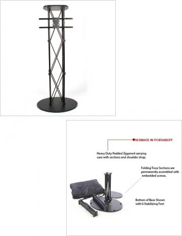 Portable large display stand