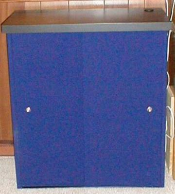 Expose Podium & Case Blue showtime fabric